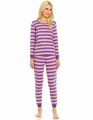 Leveret Women/'s Pajamas Fitted 2 Piece Pjs Set 100/% Organic Cotton Sleep Pants
