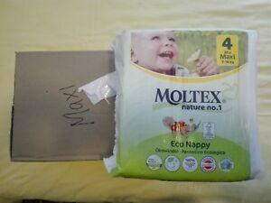 Moltex Eco Nappies Size 4 Maxi 7-18kg 4x30 Bulk Pack