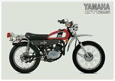 YAMAHA Poster DT125 DT125B Trail 1975 Superb Suitable to Frame