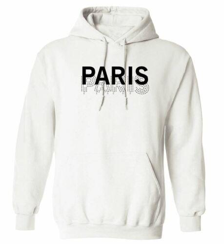 PARIS HOODIE SWEATSHIRT WOMENS MEN WOMEN HOLIDAY FRENCH FRENCH CITY HOODY SWAG