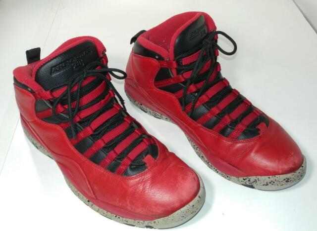 size 40 0b47b fafe7 Nike Air Jordan 10 Retro 30th Bulls Over Broadway 705178-601 Gym Red Shoes  Sz 9