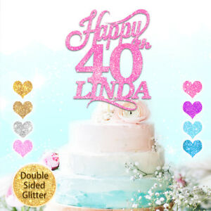 30th Birthday Cake Topper Personalised Personnalisé Tout Nom Âge 1st 16th 18th 21st