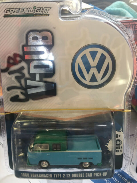 Greenlight Greeny VW 1968 Volkswagen Type 2 T2 Double Cab Pick Up