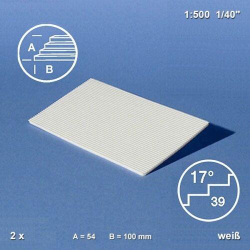 1:500 Schulcz Treppenplatte 17° weiß 1,73€//Stück 54 x 100 mm 2er Pack