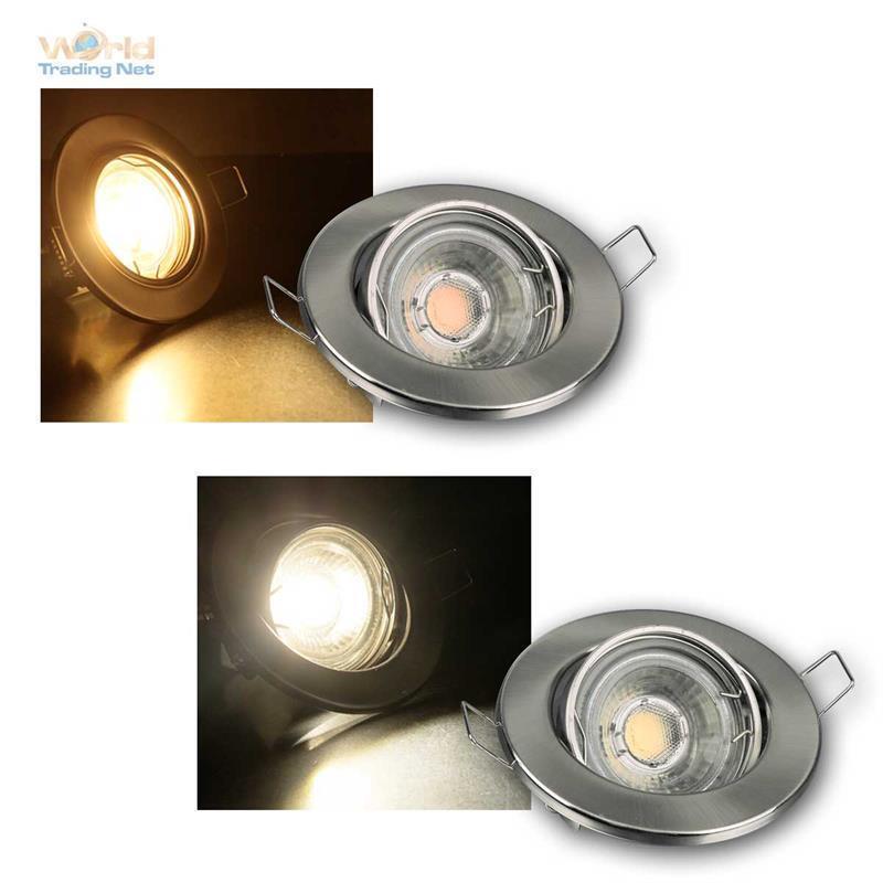 MR16 LED Einbaustrahler Sets 3 5 8er neutral warmweiß, COB LED Strahler + Trafo