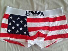 """NUOVA linea uomo EMPORIO ARMANI BOXER M/L 28-32"""" USA Bandiera Americana Stampa Vendita"""