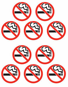 10x NO SMOKING sticker sign red white amp black Self Adhesive small 40mm Dia - <span itemprop='availableAtOrFrom'>Cambridge, United Kingdom</span> - 10x NO SMOKING sticker sign red white amp black Self Adhesive small 40mm Dia - Cambridge, United Kingdom