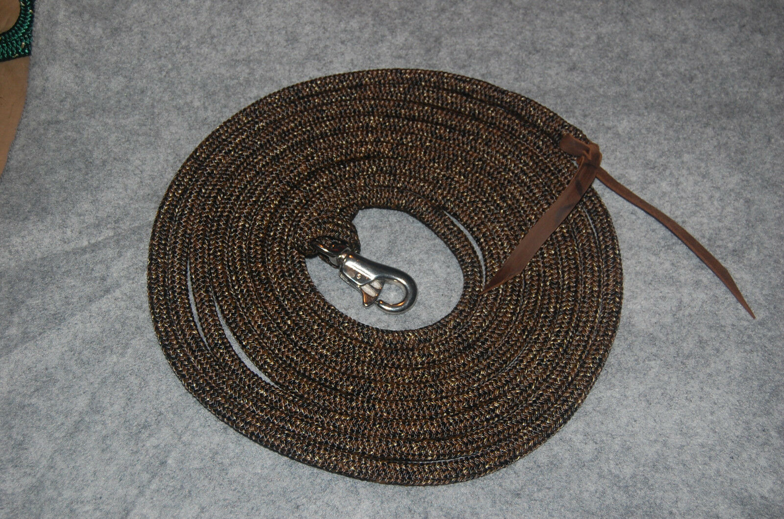 22' LONGE LINE LEAD ROPE WITH LOOP & SS  BULL SNAP FOR PARELLI TRAINING METHOD  buy cheap