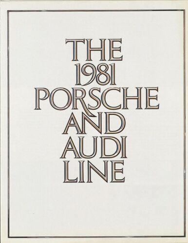 1981 Porsche /& Audi FL Sales Brochure Mint!