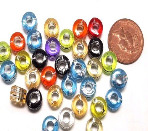 30 x 8x8x5mm feuille en-LACED Acrylique Tube Plastique Perles-A5165 k2-Accessoires