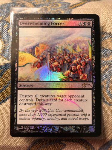 MTG magic FOIL *OVERWHELMING FORCES* DCI Judges Reward Promo Black Sorcery NM