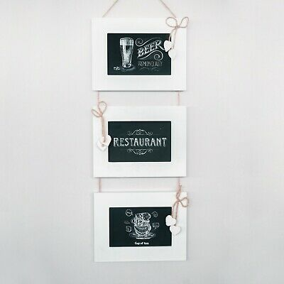 7 Day Black Board Hanging Wall Organiser Home Decor Weekly Planner Chalk Board To Do List Daily Notes HomeZone/® Hanging Wooden Wall Organiser Memo Board Grocery List