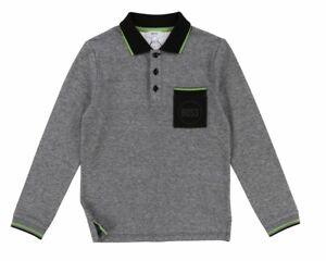 62cb36f34 Hugo Boss Kids J25C70 M41 Long Sleeves Cotton Boy's Polo Shirt Grey ...