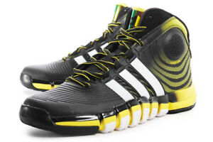 the best attitude 7a192 6f465 Image is loading Adidas-Mens-D-Howard-4-Trainers-Black-Yellow-
