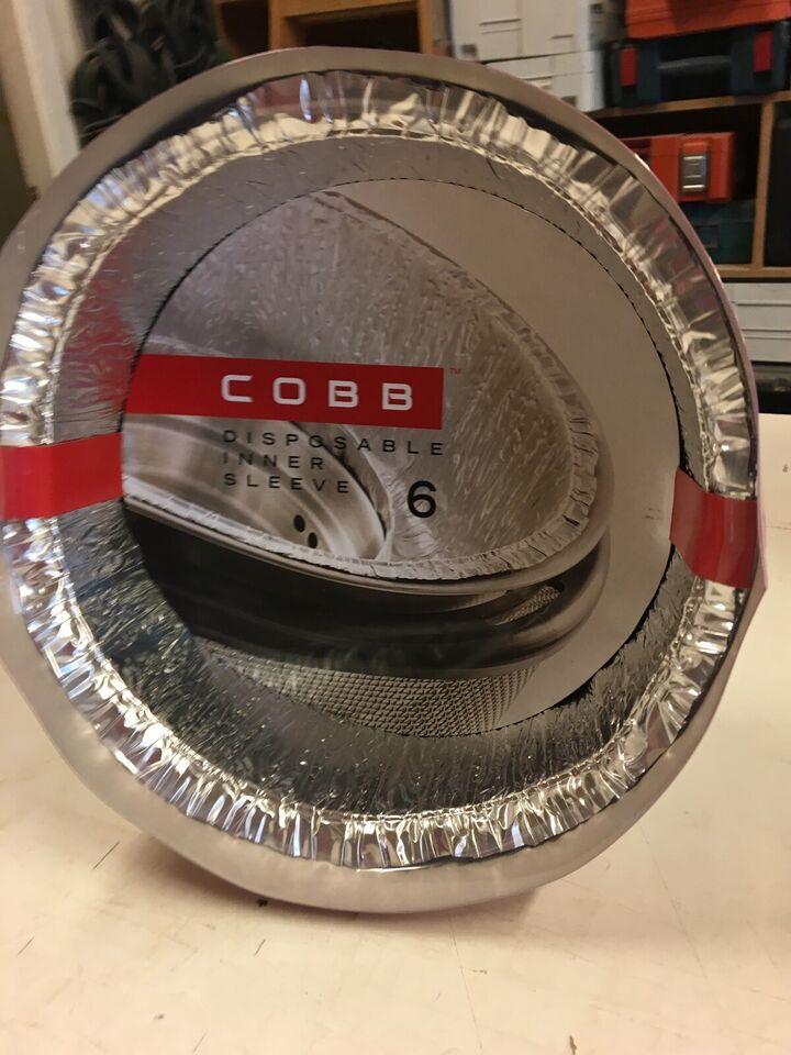COOB gril rustfri stål, med taske, nye foliebak...