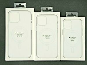Original Apple iPhone 12 and 12Pro Mini Max Clear Case w/ MagSafe NEW FAST SHIP!