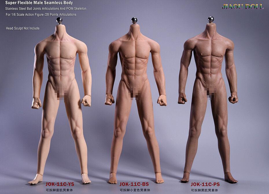 Muñeca jiaou JOK-11C 1 6 Macho modelo de cuerpo flexible sin costuras para 12  Figura De Acción