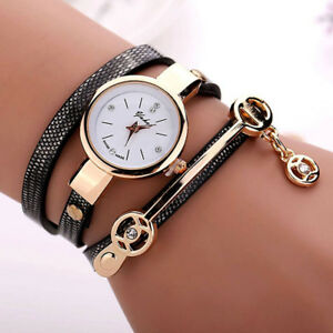 Fashion-Womens-Ladies-Watch-Stainless-Steel-Leather-Bracelet-Wrist-Watches