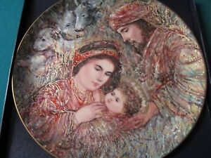 EDNA-HIBEL-COLLECTOR-CHRISTMAS-PLATE-NIB-1990-034-THE-NATIVITY-034-10-1-4-034-4