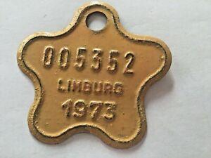 Vintage Belgian Bicycle License Plate 1973.