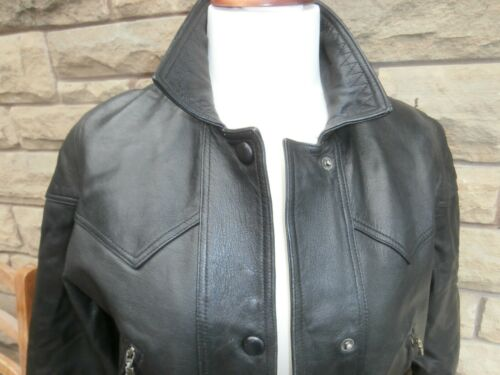 Ladies Leather Size Jacket Black Leather Jakke 12 Belt Black 29 Biker Bælte 29 Style 12 Med With Ladies Størrelse Style Biker 5vSn1
