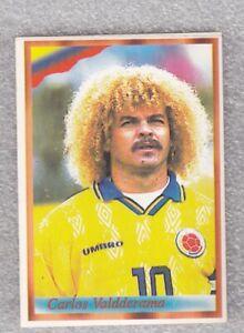 Football sticker CARLOS VALDERRAMA Colombia FIFA WC France 1998 98 Bonart Yug