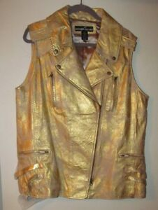 godt et Guld Designer 100 har Vest udseende New Læder Brand Distressed RazO68w