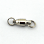 50pcs//pack Ball Bearing Swivel Double Round Split Connector Fishing Tackle 0-10#