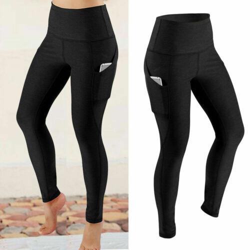 Women Strech Leggings Butt Lift Soft Yoga Pant Gym Fitness No Front Seam Trouser