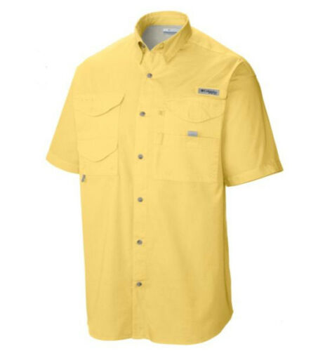 New Men/'s Columbia PFG Bonehead Vented Fishing Shirt Short Sleeve