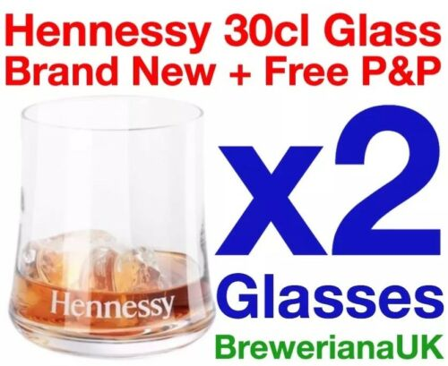 Set Of 2 Hennessy Glasses By Michael Young 30cl Brand New 100/% Genuine