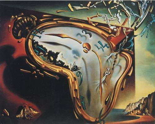 Soft Watch of the Moment of Explosion Salvador Dali Print A4 A3 A2 A1