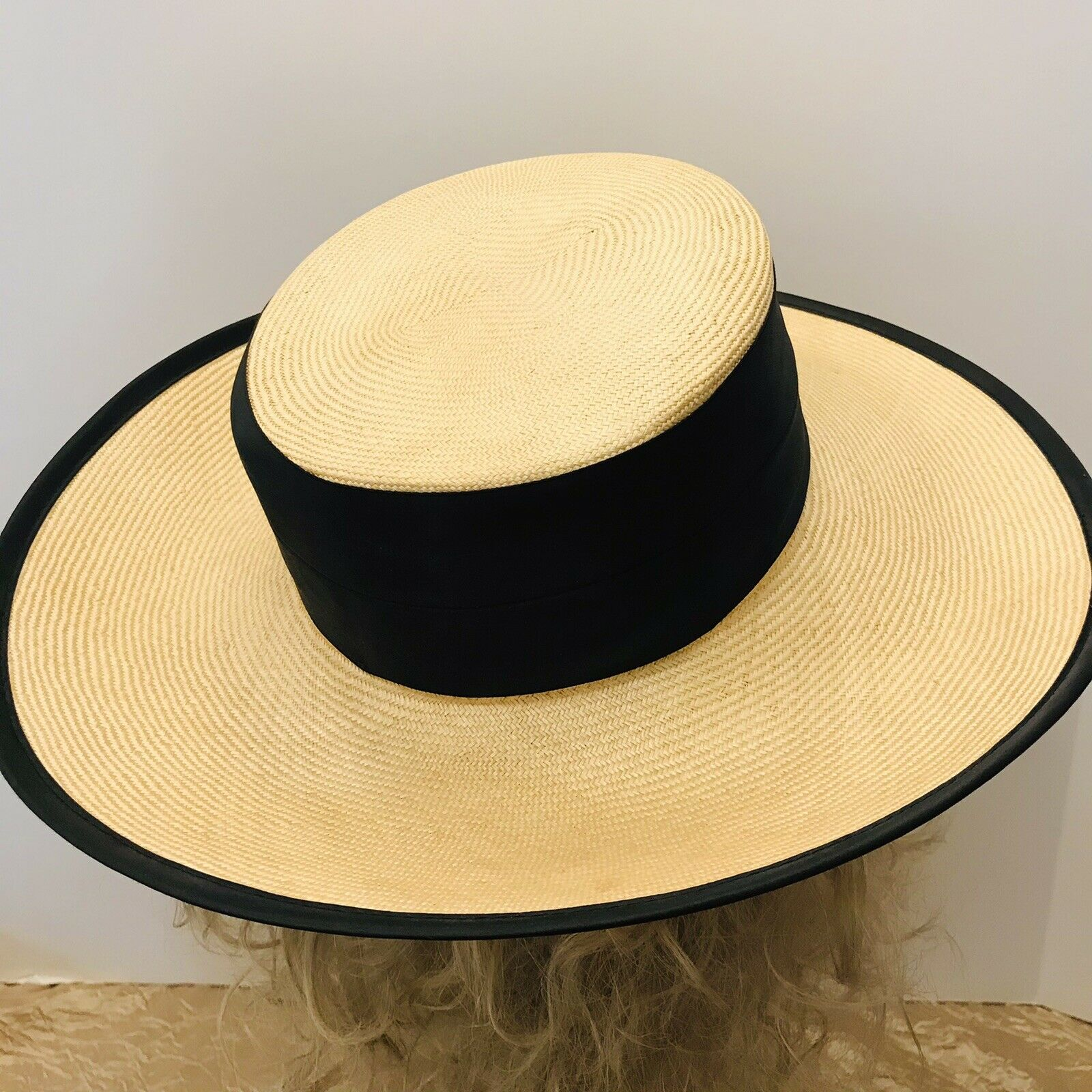 Capo Couture From Austria Vintage Straw Wide Brim… - image 3