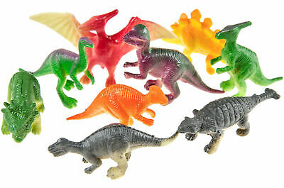 12 X Dinosaurier 4,5 - 6 Cm Größe Dino Figuren Verschieden Sortiert Mitgebsel Hochglanzpoliert