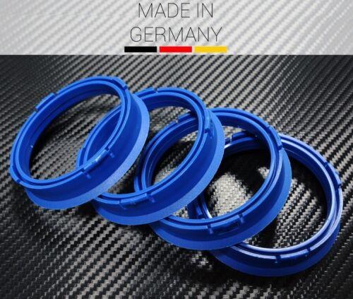 4 x anilla fz60 azul 66,6 mm x 57,1 mm Mercedes Benz AUDI VW SEAT