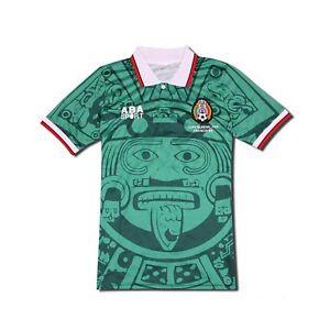 Blanco Mexico World Cup 1998 Vintage Soccer Jersey Retro Football ... 10c99b646