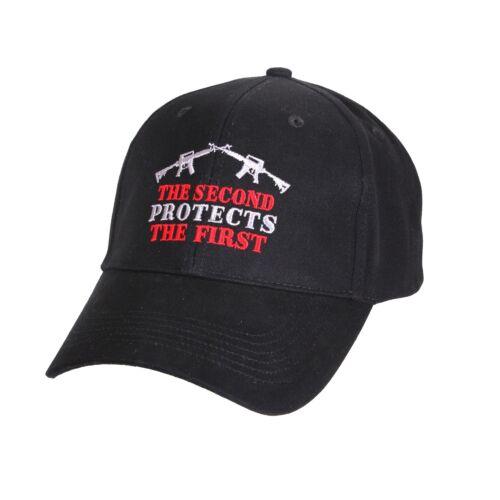 Second Amendment Black Low Profile Cap Rifle Embroidered Baseball Hat 9820