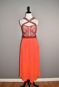 THREE-FLOOR-NEW-359-True-Romance-Red-Bustier-Accordion-Dress-Size-10
