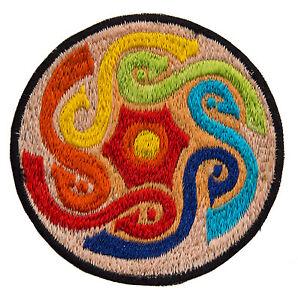 Gestickte Patches Schleife Psychedelisch Schamane Handmade Hand Tibet Nepal 8428