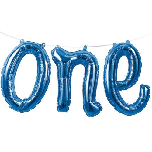 Blue Age 1 Balloon Bunting Banner Decoration X Large 1st Birthday Balloon Banner