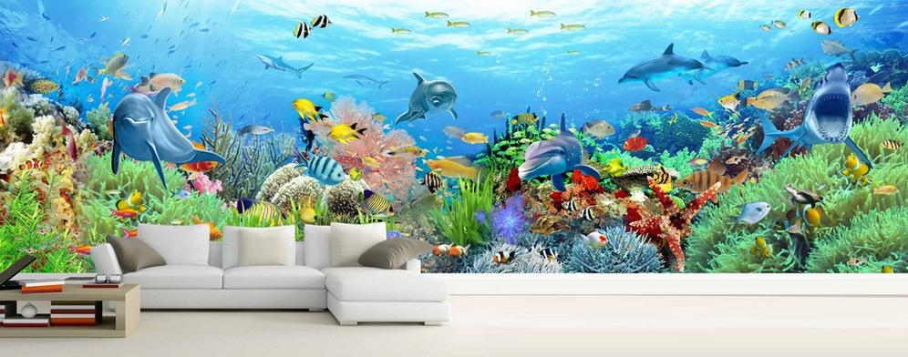 3D Bunter Meeresboden 7 Tapete Wandgemälde Tapete Tapeten Bild Familie DE Summer