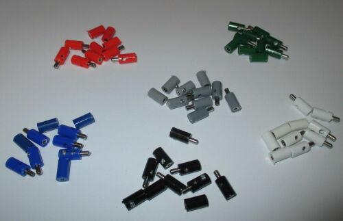 60 Stecker//Muffen 2,6mm mit Querloch sortiert   *NEU* Stck 23,25 ct