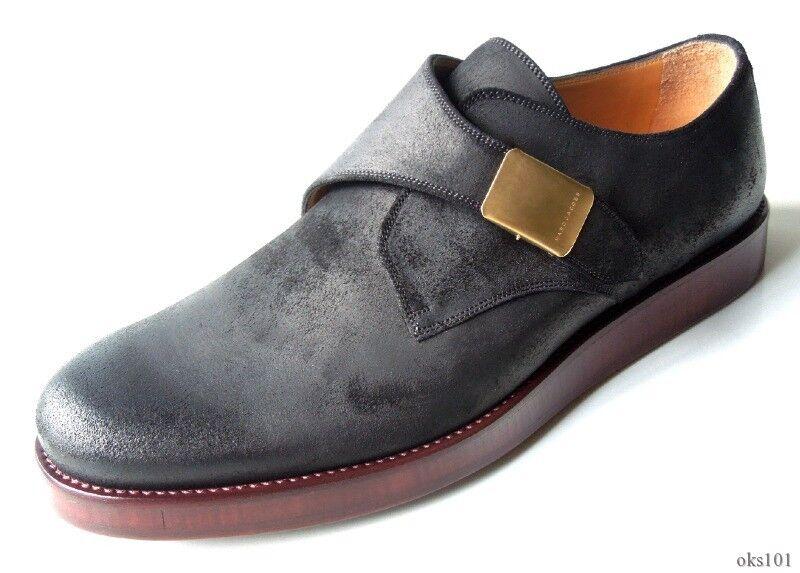Nuevo  MARC JACOBS para hombre Matizador monje Oxford Mocasines Zapatos Hebilla de logotipo en negro