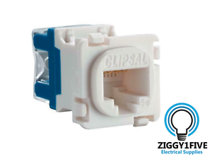 Clipsal-CAT5E-Data-Mech-RJ45-30RJ45SMA5C-Ethernet-NBN-Communication-White