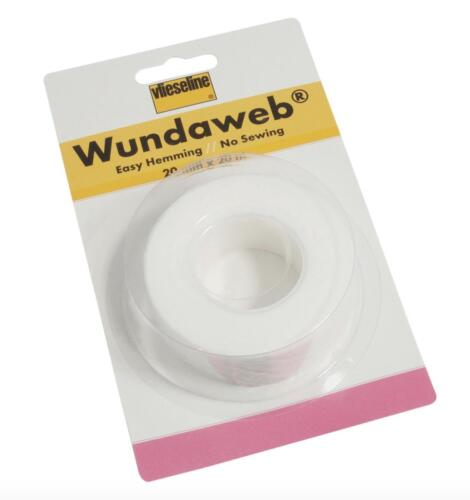 Vilene Strong Wundaweb Iron Hemming 20mm Web Hem No Sewing Fabric Tape Wonderweb