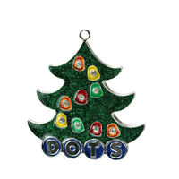 Hd35991 3 Silver-plated Dots Gumdrop Candy Christmas Tree Ornament W/crystals
