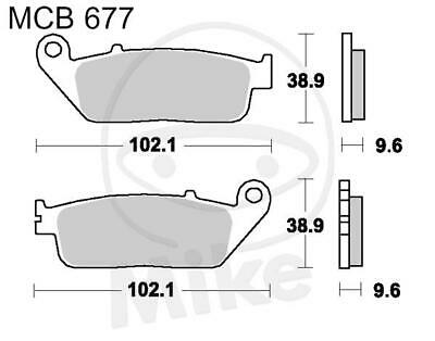 TRW Lucas Bremsbeläge MCB677 vorne Honda SH 125 i AD ABS