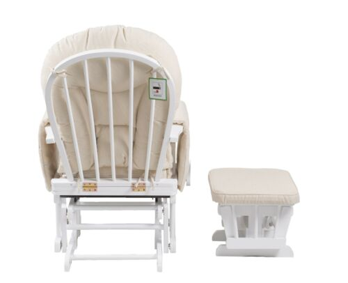 Sereno white Glider maternity rocking chair with footstool SRP£299