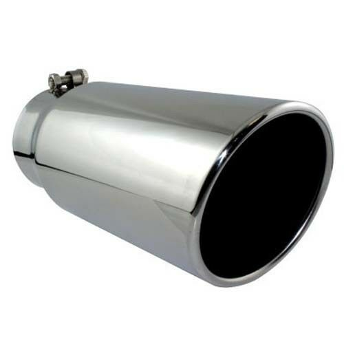 """Different Trend Stainless Steel Slant Cut With Rolled Edge Exhaust Tip 4/""""X6/""""X18/"""""""
