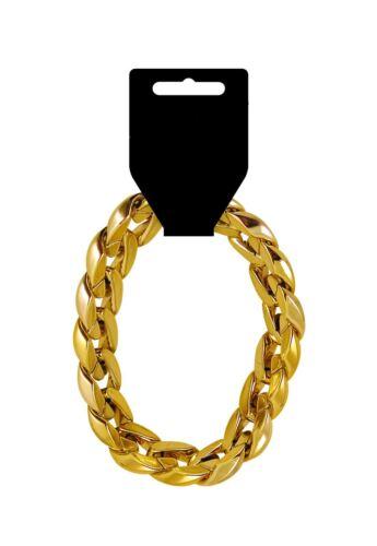 Uomini Gangster in plastica catena d/'oro /& Braccialetto accessorio perfetto per feste gangster